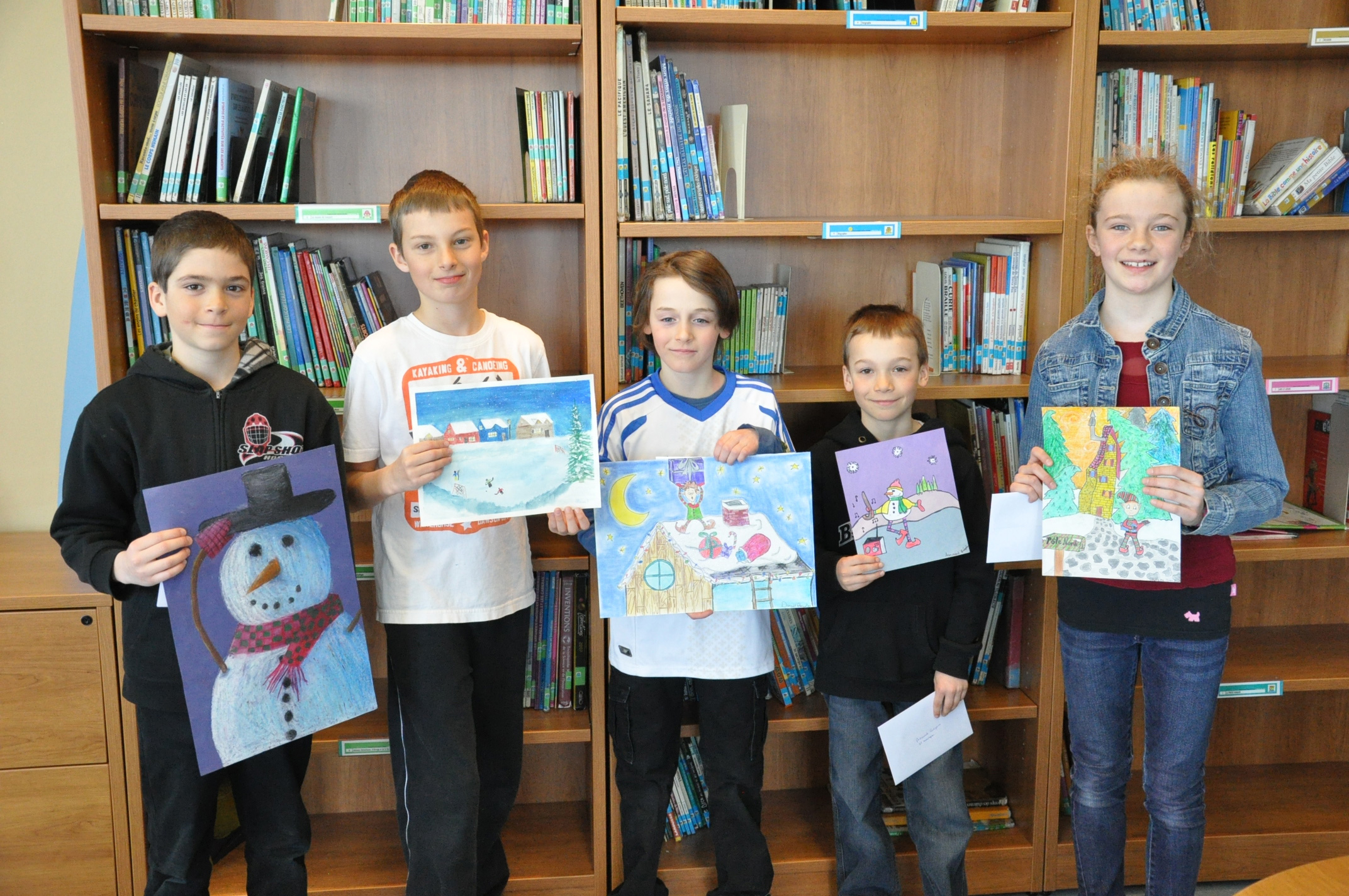 Félicitations aux gagnants du concours d'oeuvres d'art pour les cartes de voeux 2014